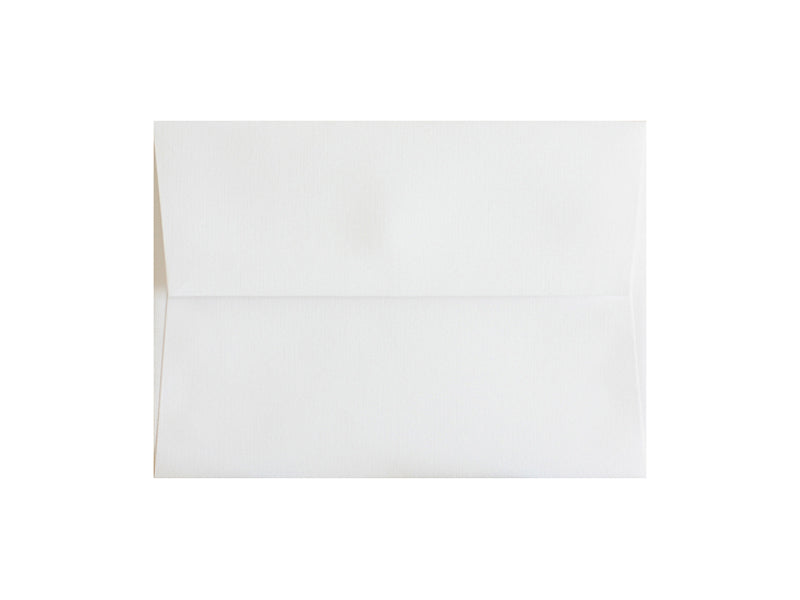 100 PACK - 4-BAR MATTE LINEN ENVELOPE: BRILLIANT WHITE