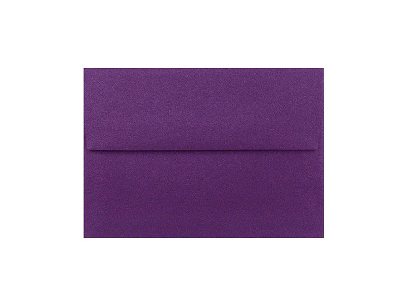 50 Pack - 4 Bar Metallic Envelope: Grape