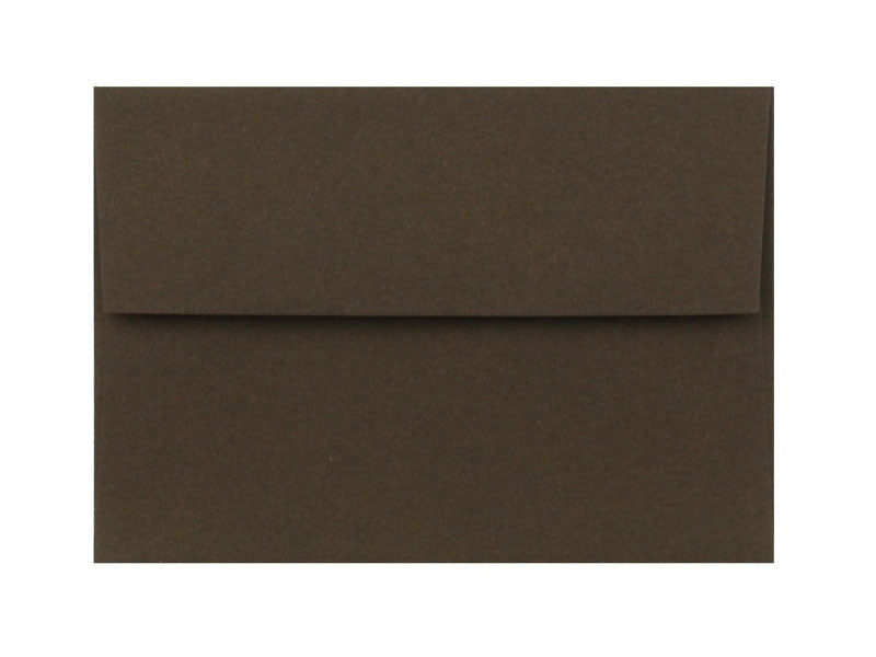 100 PACK - A7 MATTE ENVELOPE: CHOCOLATE