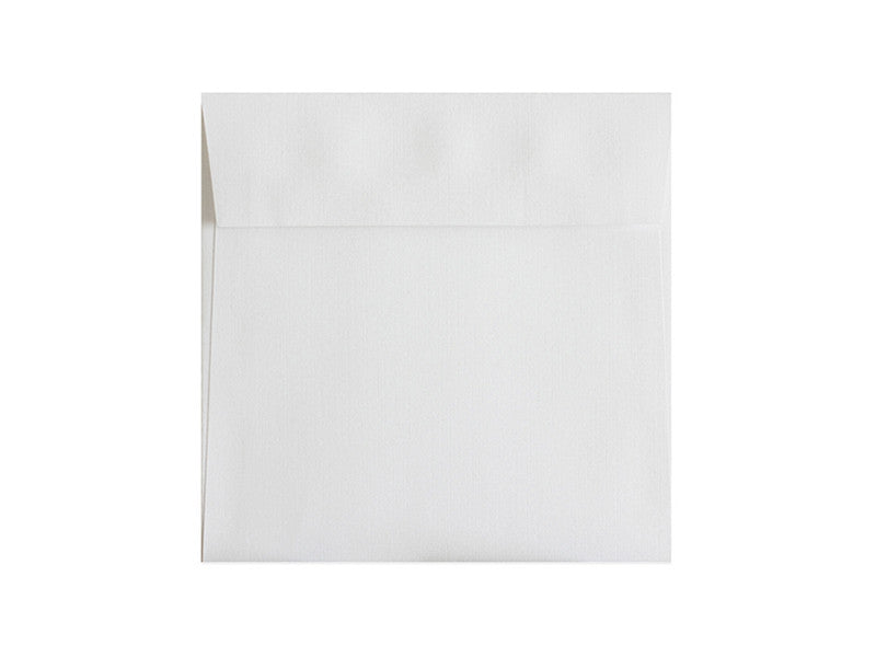 "100 PACK - 6-1/2""sq. MATTE LINEN ENVELOPE: BRILLIANT WHITE"