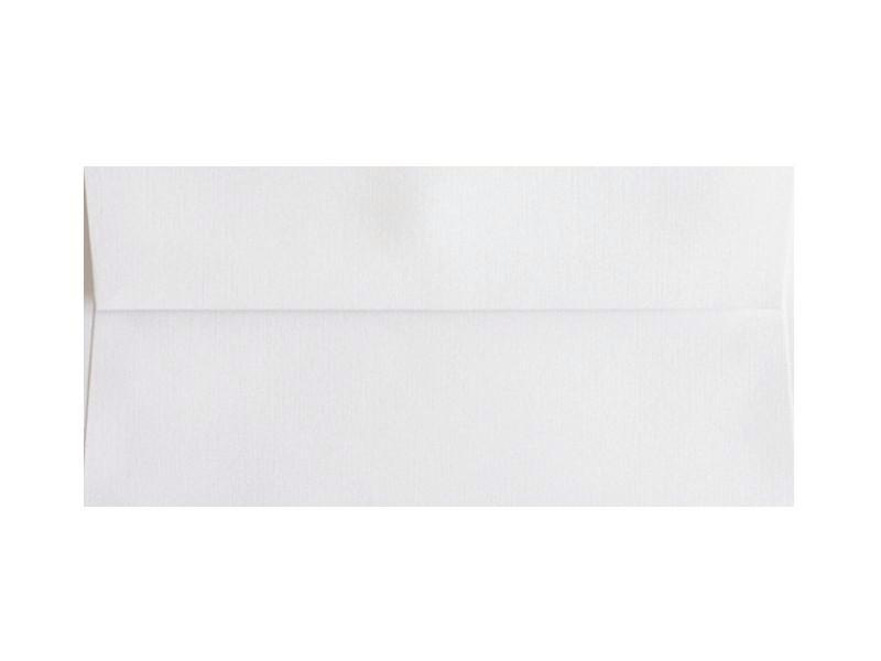 100 PACK - #10 MATTE LINEN ENVELOPE: BRILLIANT WHITE