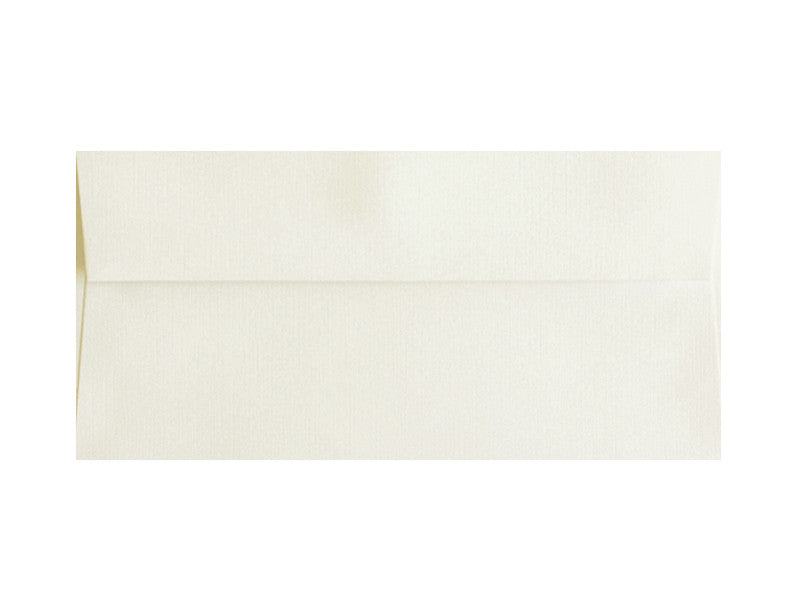 100 PACK - #10 MATTE LINEN ENVELOPE: NATURAL WHITE