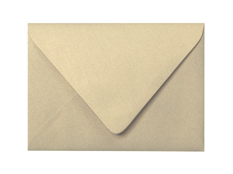4bar Metallic Gold Leaf Euro Flap Envelope