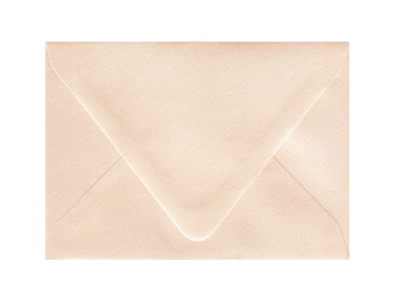 4bar Metallic Coral Euro Flap Envelope