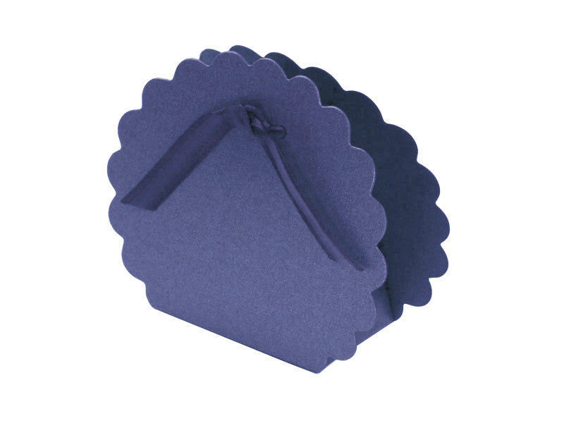 ROUND SCALLOP FAVOR BOX