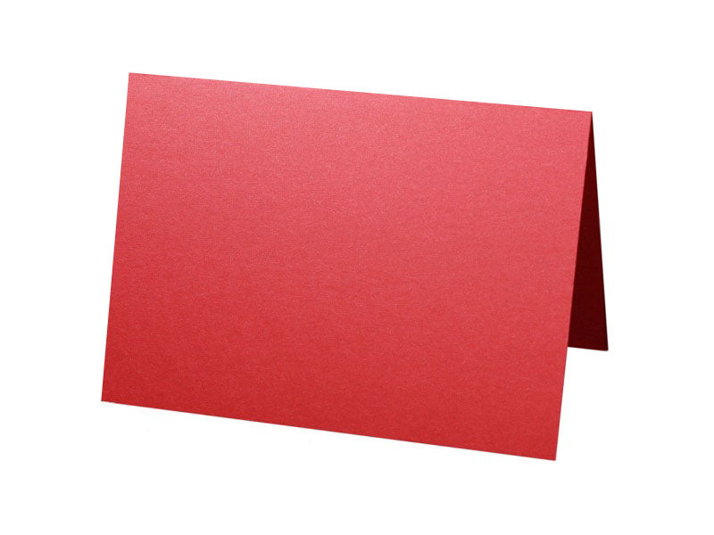 50 pack - A6 Metallic Folded Card : Classic Red