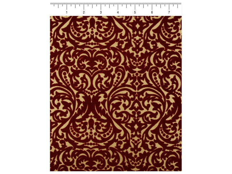 Ruby and Gold Damask - Velvet