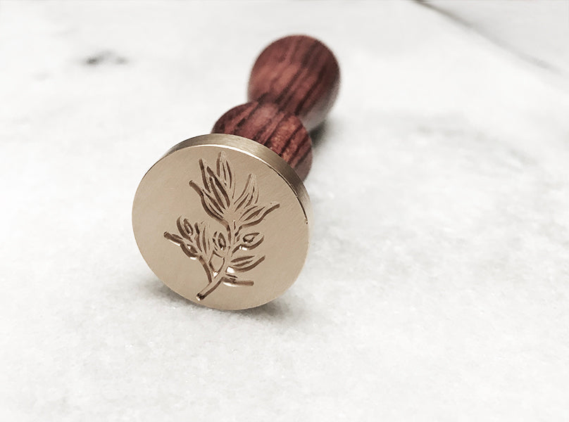 "Olive Branch 1"" Dia. Wax Stamp"