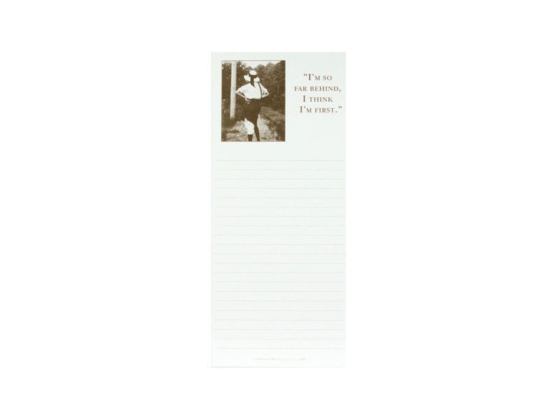 'I'm So Far Behind...' Magnetic Notepad