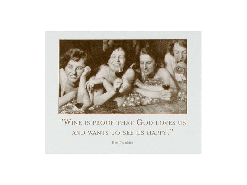 'Wine is Proof That God...' Magnetic Notepad