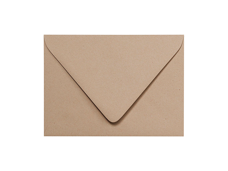 100 Pack - A2 Smooth Light Kraft Euro Flap Envelopes