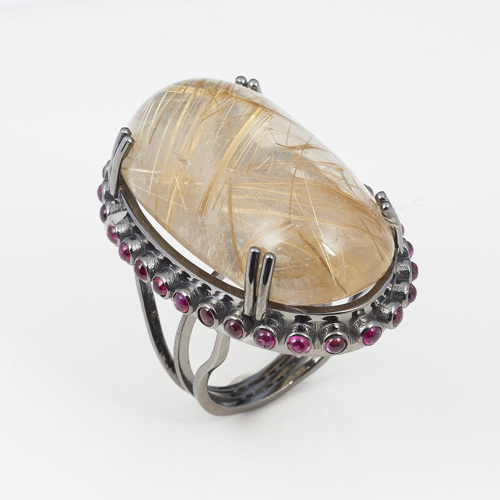 large to click silver info jewelry cabochon information rings image faceted quartz rutile gems ring rutilated enlarge
