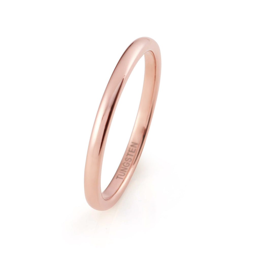 wedding women rose edge plated ring gold dp brushed band men com polished for amazon bands tungsten beveled fit comfort