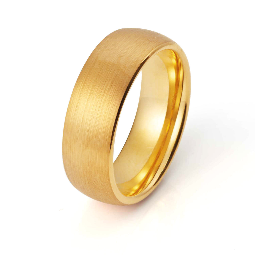 wedding stripe carbide mens ring rings koa free center wood products band silver with tungsten