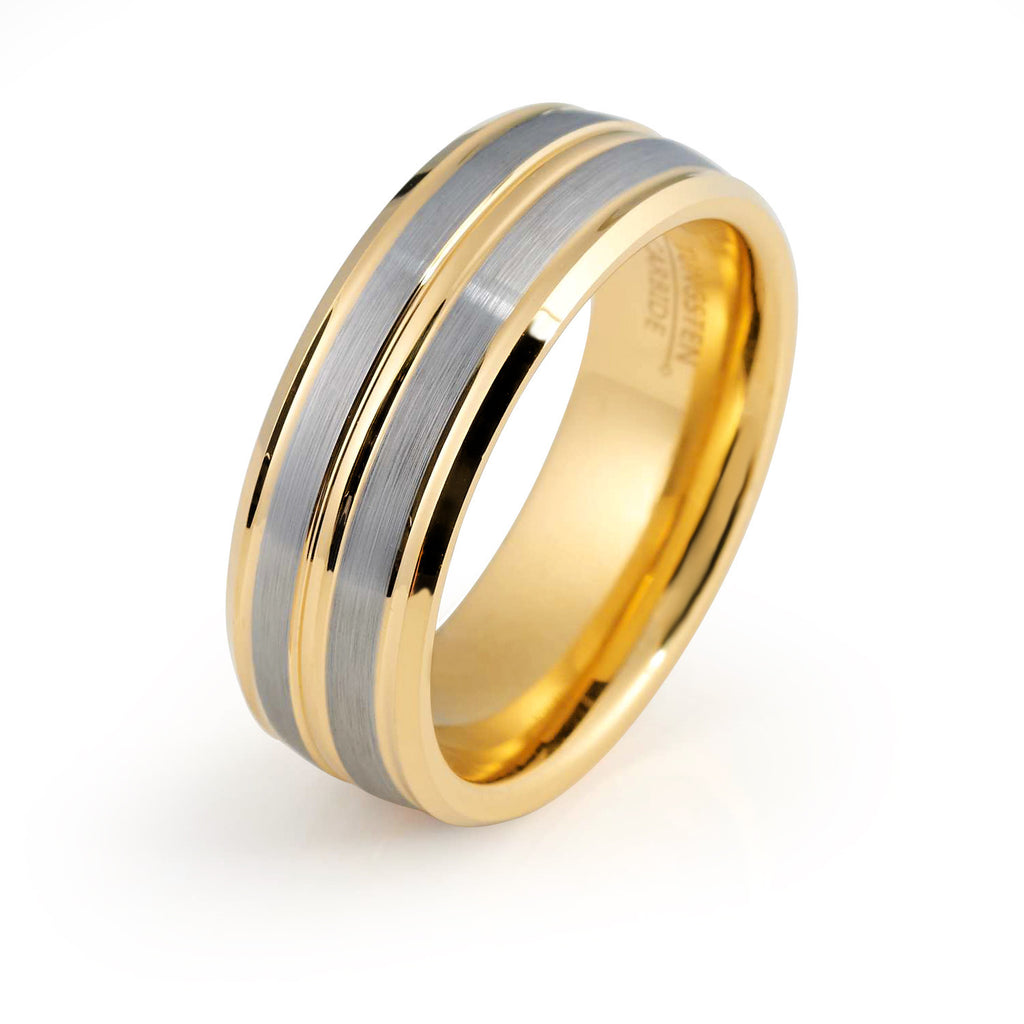 wedding tone mens rings two bands plain