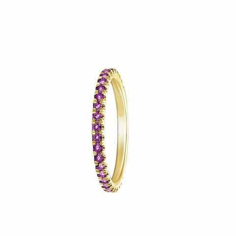 Amethyst Eternity Band - TungstenWeddingBands