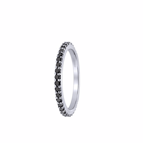 Black Diamond Eternity Band - TungstenWeddingBands