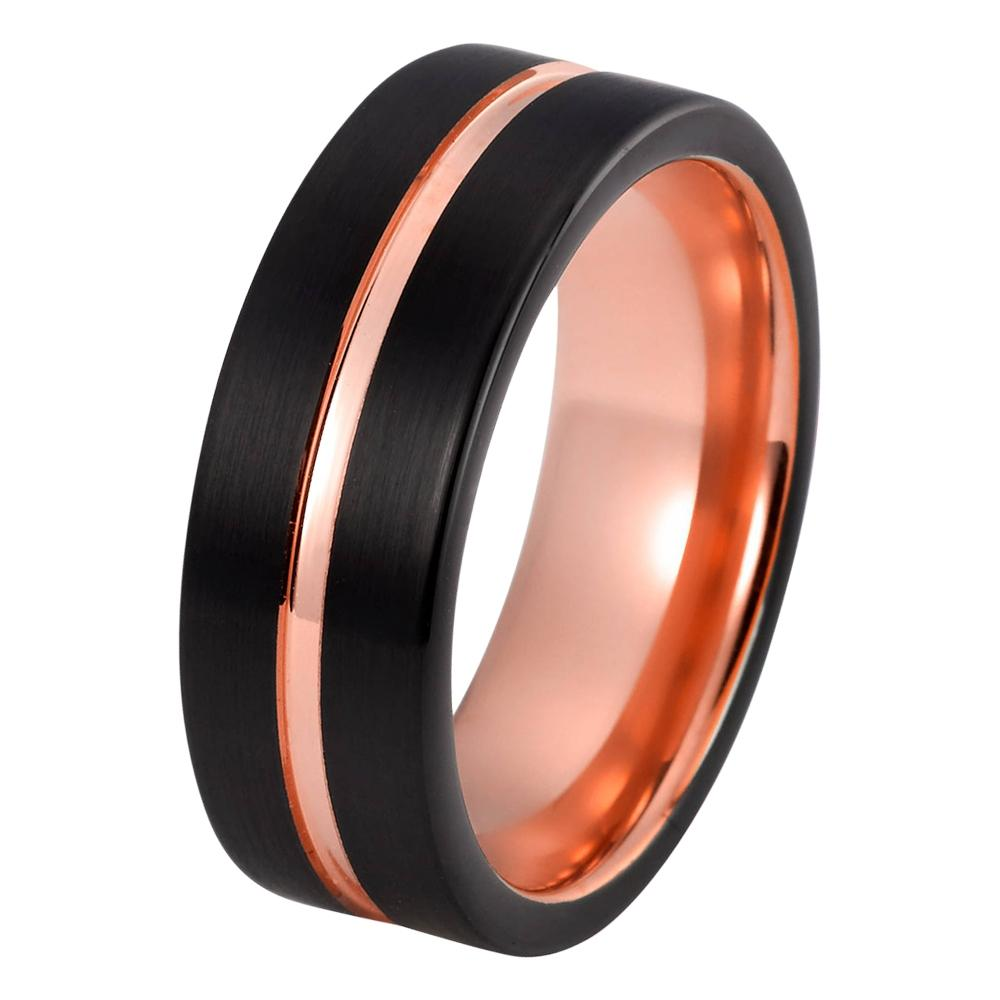 band male carbide tungsten ring jewellery rings engagement mens promise anniversary products brushed man red wedding proof scratch black bands
