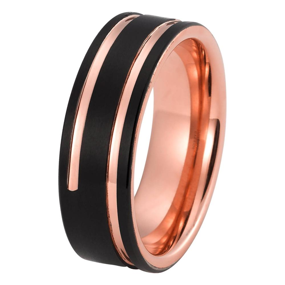 specifics fashion product and steel ring men width surface wedding bands gold rose rings for tungsten black carbide item