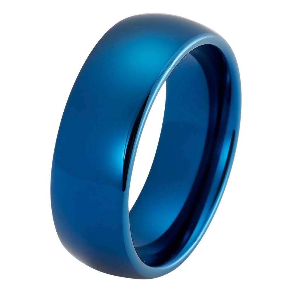 wedding ring blue wedding band tungsten carbide mens wedding band man engagement ring male wedding - Blue Wedding Ring