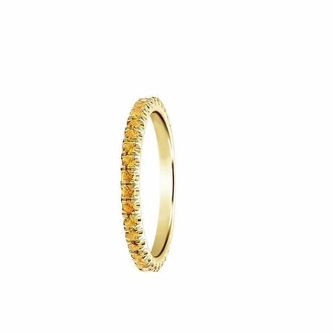 Citrine Eternity Band - TungstenWeddingBands