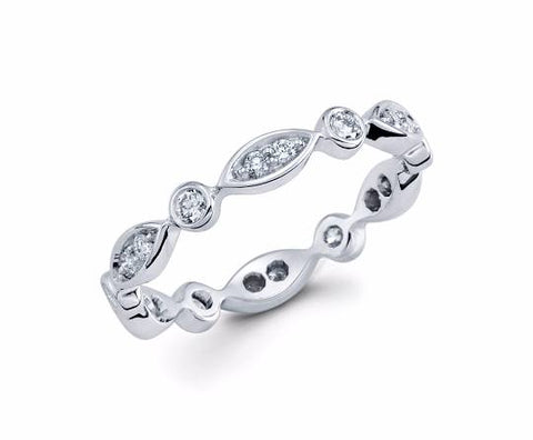 Diamond Eternity Band - TungstenWeddingBands