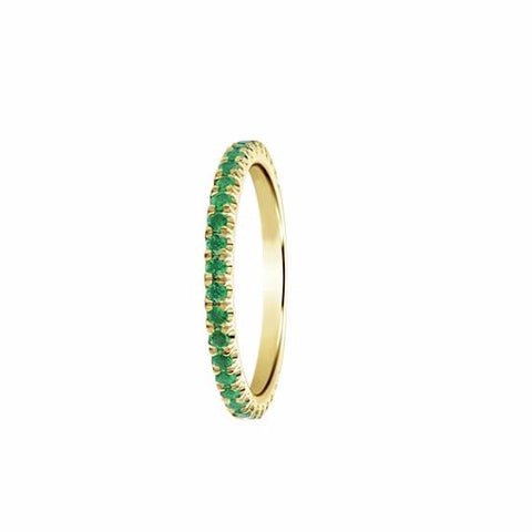 Emerald Eternity Band - TungstenWeddingBands