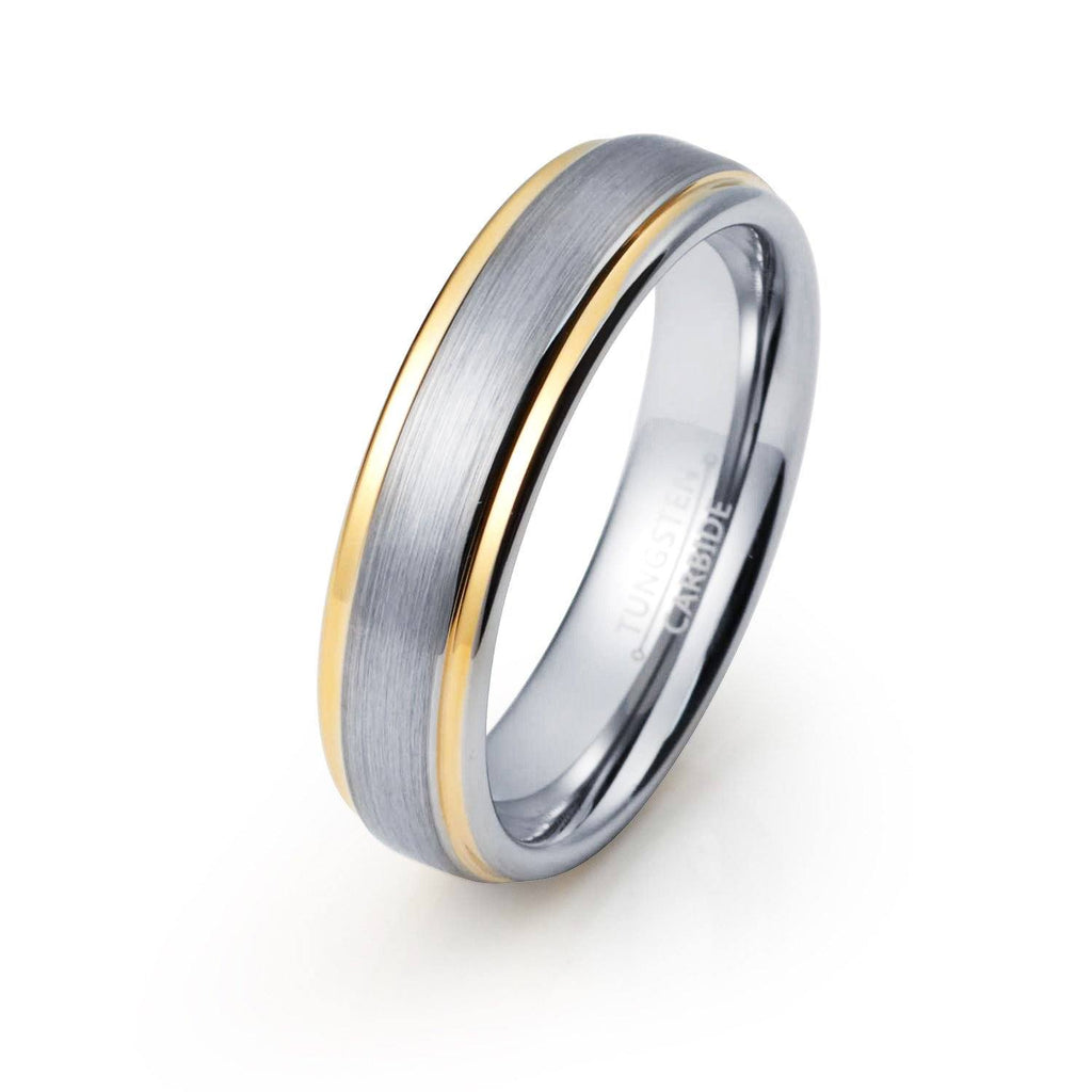 gold platinum made sizes and set yellow flat ring in media brushed bands rings your wedding hers recycled band his