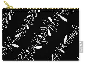 Black White Drawing - Carry-All Pouch