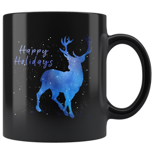 Holiday Coffee mug, Thanksgiving gift, black coffee mug, Christmas gift for niece, Christmas gift for teens, Christmas gift for girls, holiday gift for girls, Christmas gift for boyfriend, Christmas gift for men, Christmas gift for girlfriend,HOLIDAY GIFT FOR BOSS,HOLIDAY GIFT FOR TEACHERS, coffee mug, snowflakes, blue snowflakes, winter coffee mug, holiday coffee mug, gift for mom