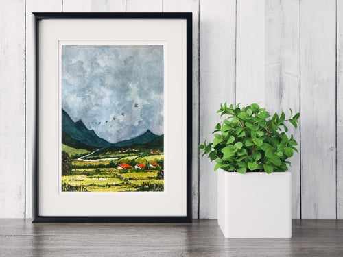 Gray Skies ~ Watercolor Painting ~ Giclee Print
