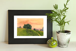Orange Glow ~ Watercolor Painting ~ Giclee Print