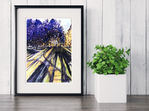 Purple Shadows ~ Watercolor Painting ~ Giclee Print