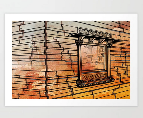 India Palace Wall ~ A Giclee Print