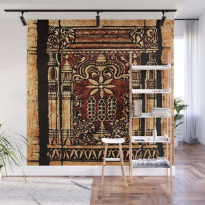 Moroccan Intricate Wall Carvings Design- Wall Mural - 8' X 8'