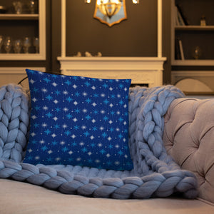Blue Snowflakes Pillows