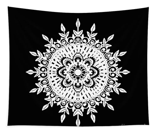 Black And White Mandala - Tapestry