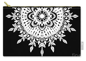 Black And White Mandala - Carry-All Pouch