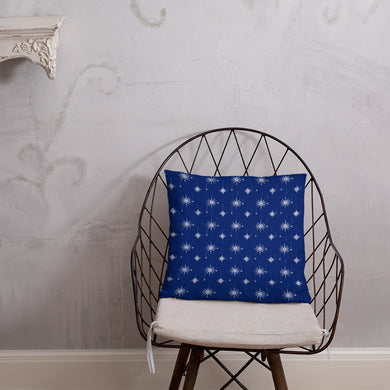Blue Snowflake Throw Pillow - Holiday Collection