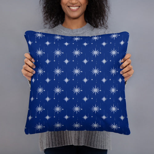 Blue And White Throw Pillow - Holiday Collection