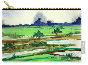 Watercolor Landscape Print - Carry-All Pouch