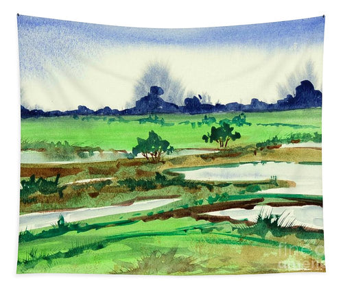 Watercolor Landscape Print - Tapestry