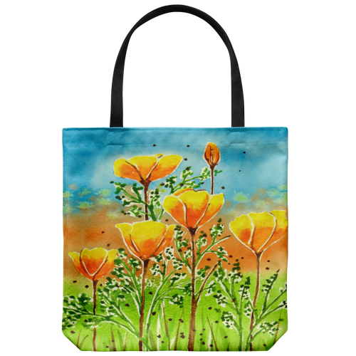 Weekender Tote Bag,Gym Bag,Grocery Tote Bag,Holiday Gift,Christmas Gift,Big Tote, California Poppies