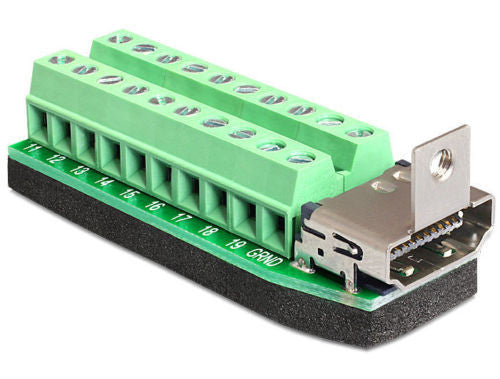 Delock Adapter HDMI female > Terminal Block 20 pin connect single pins to HDMI - Optiwire.ie