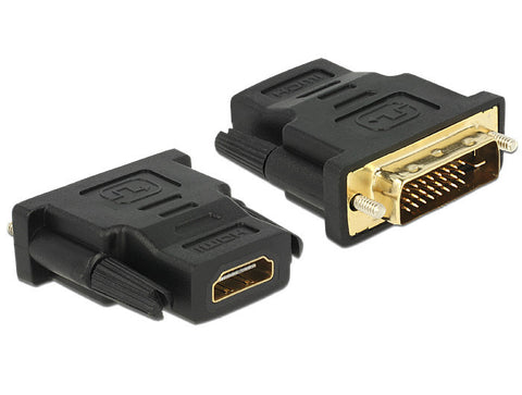Delock Adapter DVI 24+1 pin male > HDMI female connect DVI device > HDMI monitor - Optiwire.ie