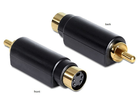 Delock Adapter S-Video mini DIN female 4 pole > 1 x RCA male Gold-plated black - Optiwire.ie
