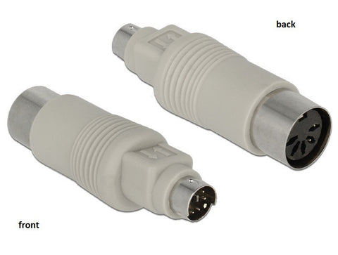 Delock Adapter PS/2 (Mini-DIN) male 6 pin > DIN 5 pin female grey - Optiwire.ie