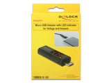 Delock Micro USB Adapter with LED indicator for Voltage and Ampere max 4 A & 6 V - Optiwire - 2