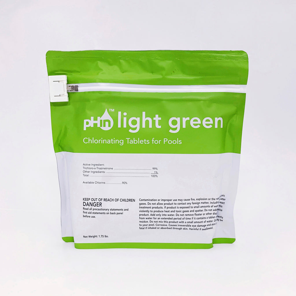pHin Light Green Chlorinating Tablets for Pools