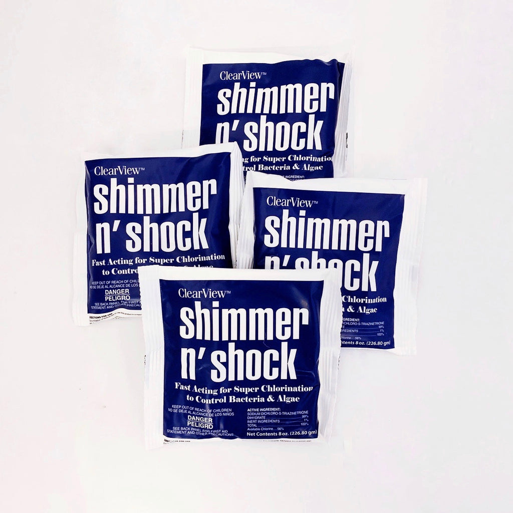 pHin Dark Blue Shimmer n' Shock Pouch 4pk for Pools